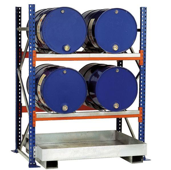 Fassregal für vier 200-Liter-Fässer