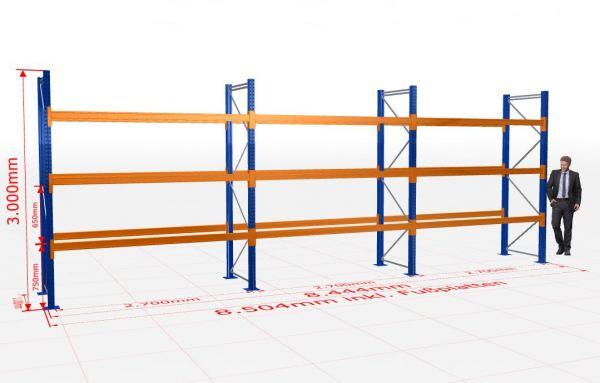 Komplett-Set- 3 Felder 2.700 mm je 4 Lagerebenen